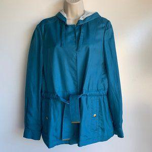 ALLEGRI Blue Jacket w/ Hood ~Italy~ Sz 42= US Sz 6